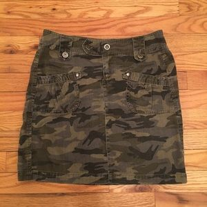 DEX DENIM Camo Camouflage Mini Skirt Jeans